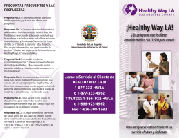 ¡Healthy Way LA! - UCLA Center for Health Policy Research