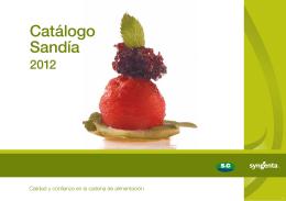 Catálogo Sandía 2012