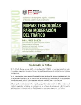 Moderación de Tráfico - Instituto de Ingeniería, UNAM