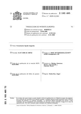 FORMULACION LIQUIDA FUNGICIDA.(ES2183485)