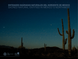 SACRED NATURAL ENTITIES IN MEXICO´S NORTHWEST
