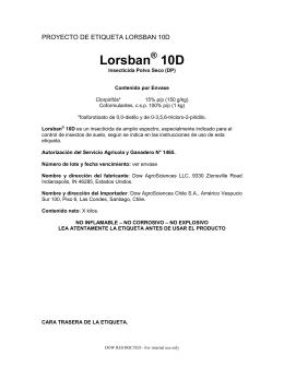 Lorsban 10D - Dow AgroSciences