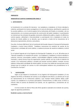 propuesta rendición de cuentas coordinación zonal 8 1. antecedentes