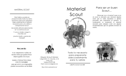 Material Scout - Grupo Scout Xavier