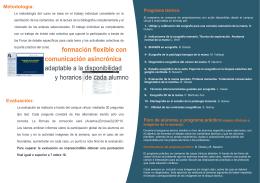 formación flexible con comunicación asincrónica adaptable a la