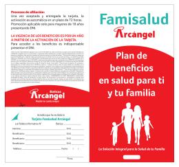 Diptico Famisalud - Boticas Arcangel