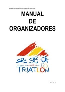 MANUAL DE ORGANIZADORES - Federación Madrileña de Triatlón
