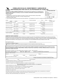 Camping Health, Consent, and Release Form (Spanish)