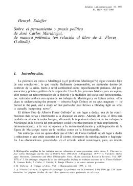 Sobre el pensamiento y praxis política, de José Carlos Mariátegui