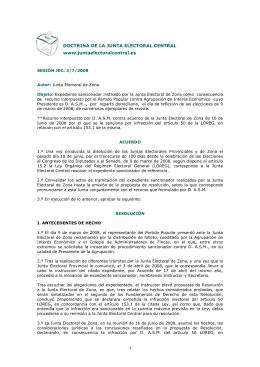 DOCTRINA DE LA JUNTA ELECTORAL CENTRAL www