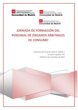 JORNADA SOBRE - Comunidad de Madrid