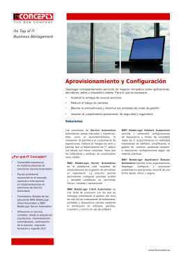 Folleto publicitario 3 - Business Service Management.