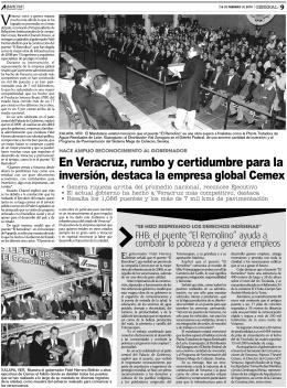 En Veracruz, rumbo y certidumbre para la