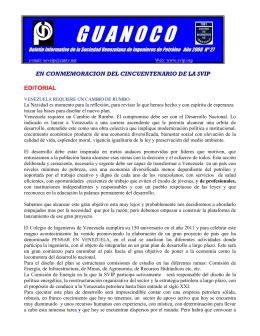 Guanoco No 27 - Sociedad Venezolana de Ingenieros de Petroleo