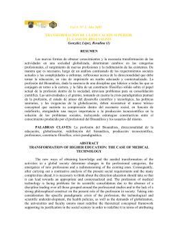 Transformación de la Educación Superior: El Caso de Bioanálisis.