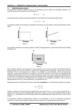 V e lo c id a d Tiempo ÁREA y x y y m − − =