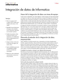 Integración de datos de Informatica