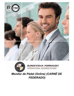 Monitor de Pádel (Online) (CARNÉ DE FEDERADO)
