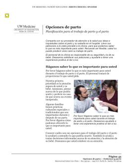 Opciones de parto - UWMC Health On-Line