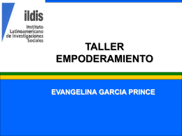 """Presentación """"Género, Empoderamiento y Liderazgo"""", Dra"""