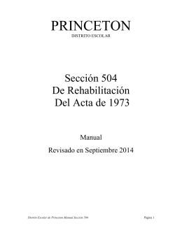 Manual Sección 504