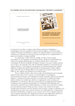 Folleto Libro Los sefardies CSIC