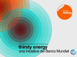 agua y la energía