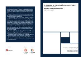 ii jornada de innovación docente / 2012