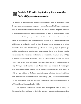 Capítulo 3. El Exilio Lingístico y Literario de our Sister Killjoy de ama
