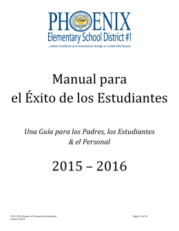2015-2016 - Phoenix Elementary School District #1