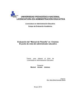 """Evaluación del """"Manual de Filosofía"""" en Cinemex. El punto de vista"""