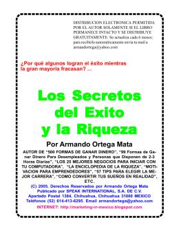 Ortega, Armando - Los Secretos del Exito y la Riqueza.p65