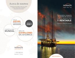 NOMADIS – Folleto – Petróleo y Gas