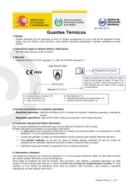 Guantes Térmicos (pdf, 295 Kbytes)