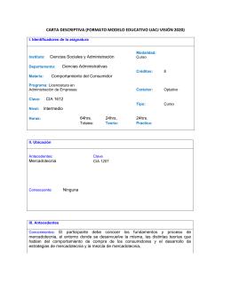 CIA 1612 Comportamiento del Consumidor Mayo 2013