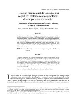 Relación mediacional de los esquemas cognitivos maternos en los