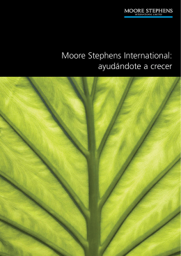 Ayudandote a Crecer - Moore Stephens Zaragoza