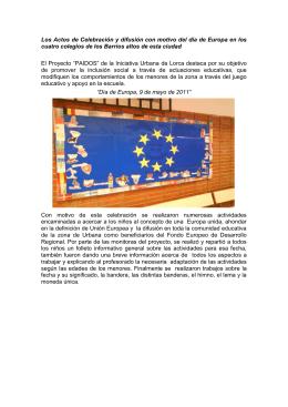 Los Actos de Celebración y difusión con motivo del día de Europa