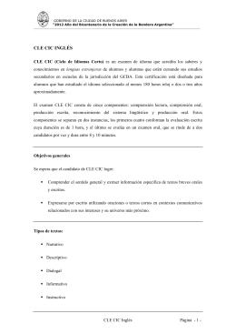 CLE CIC INGLS - Gobierno de la Ciudad Autónoma de Buenos Aires