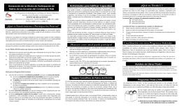 Actividades para Edificar Capacidad ¿Qué es Título I ?