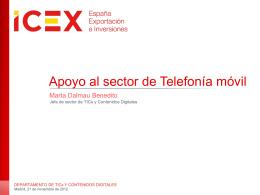 Patrón/ plantilla presentación PowerPoint ICEX