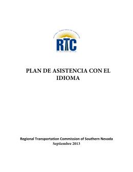 PLAN DE ASISTENCIA CON EL IDIOMA