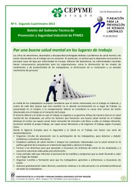 Boletín del Gabinete Técnico de Prevención y