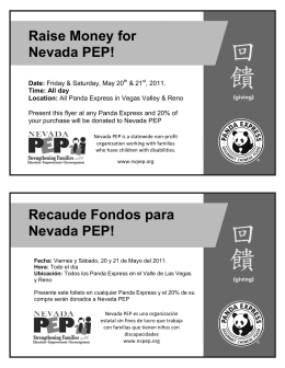 Raise Money for Nevada PEP! Recaude Fondos para Nevada PEP!