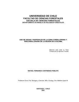 universidad de chile facultad de ciencias forestales