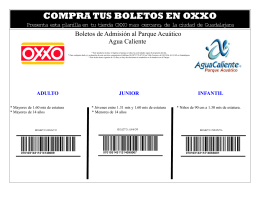 COMPRA TUS BOLETOS EN OXXO