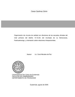 Cesar Godínez Girón - Universidad de San Carlos de Guatemala