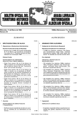 SUMARIO AURKIBIDEA - Diputación Foral de Álava