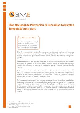 Plan Nacional de Prevención de Incendios Forestales, Temporada
