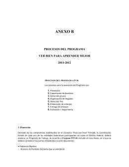 ANEXO B - Institucionalidad de los Programas Sociales